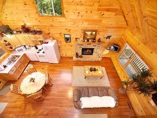 Loft View of Living Area at Smoky Bears Creek