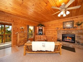 Living Room with Fireplace at Mountain Magic