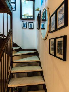 The stairway leading to the upper floor!