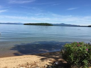 Labor Day Discount ** Beachfront Home on Lake Winnipesaukee Private Beach Views