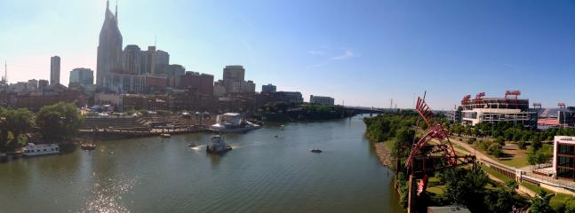 Downtown view from the Pedestrian Bridge in walking distance!