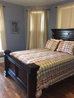 Master bedroom on first floor.