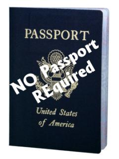 No Passport required for U.S. citizens.
