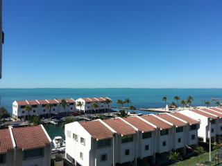 Enjoy that view from the balcony. Endless open bay view always breathless.