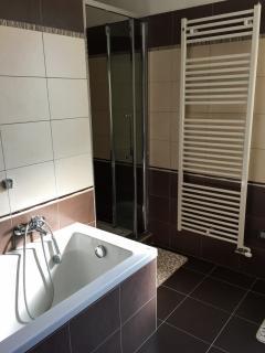 l'angolo doccia e vasca da bagno