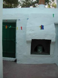 Walled inner courtyard