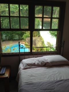 View to the pool from Bedroom