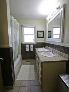 1st Bathroom with bathtub.