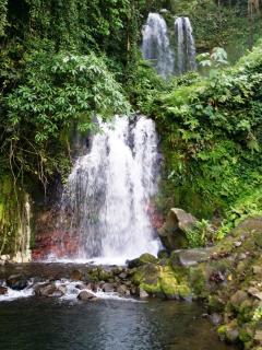 Pristine waterfalls at rainforest of Rincon de la Vieja.
