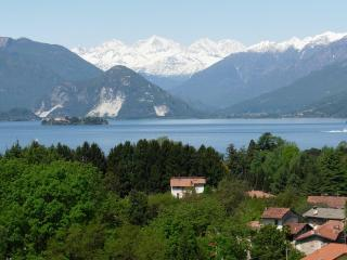 Beautiful view on lake and mountains, Laveno-Mombello
