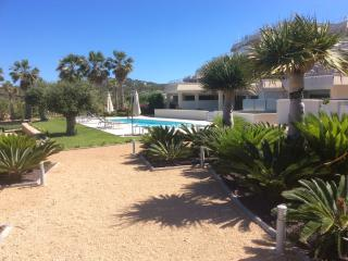 2 bed garden apartment with pool,sea view sunsets!, Cala Tarida