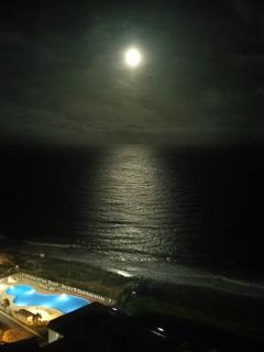 Full moon over the ocean as seen from our deck...