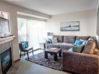 A great place to relax at the end of the day with friends and family. Sofa holds a double bed.