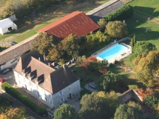 From the sky, view on the property
