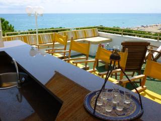 Penthouse on beach with private roof-top pool., Cambrils