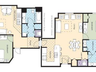 2Br Lockoff #1LO Wyndham Grand Desert  Near Strip, Las Vegas