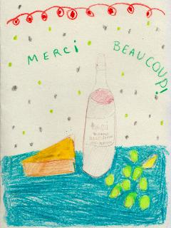 Sometimes our guests thank you with a few words, a post card...or a drawing!