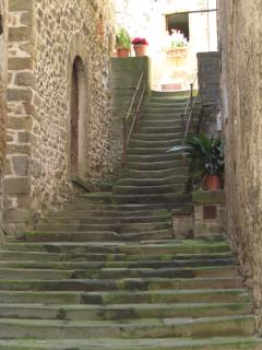 A typical stone staircase in the historic centre