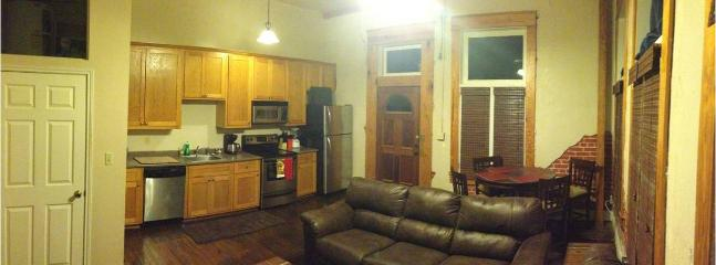 Looking back at the living room area