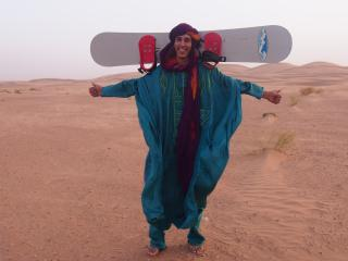 Let's go to have sand boarding