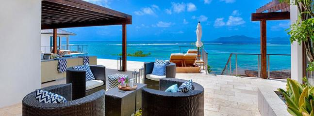 Villa Triton AVAILABLE CHRISTMAS & NEW YEARS: Anguilla Villa 114 Sitting On The South Shore, Anguilla Villa 114 Commands Stunning Views Of The Secluded Cove Beach And The Mountains Of St. Martin., Little Harbour