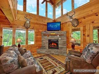 Living Room with Fireplace at Wilderness Lodge