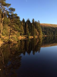 Reservoir on the way to  Talybont  On Usk (50 mins away)