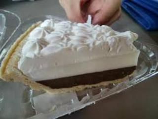 Ted's world famous chocolate haupia pie-- A MUST!