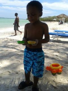 Local boy at Burwood Beach