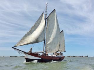 Traditional Sailing Ship and Houseboat Manta, Amsterdam
