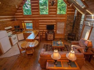 Raccoon Lodge - Spacious living room and kitchen! Pool table and hot tub