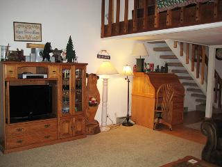 Living Room, Dining Room & Stairs to Loft