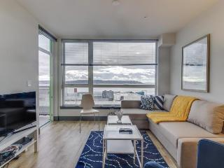 Stylish, dog-friendly condo at Arthouse w/ private balcony & Puget Sound views!