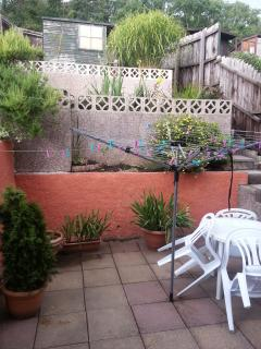 private garden and patio