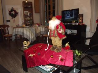 Christmas Feeling. Living room  decorated for Christmas and New Year