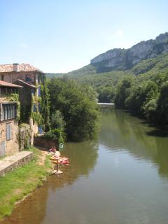 The River Aveyron in St. Antonin Noble Val.
