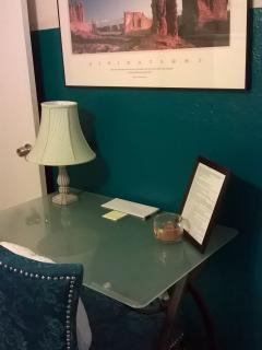 The Emerald suite workstation area