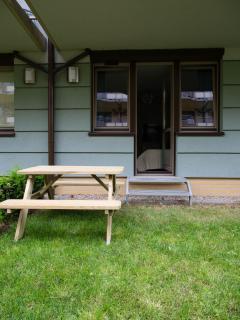 Apartment has an access to a small private garden
