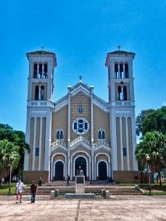 Catholic Church Nuestra Sra del Pilar at Rio Piedras Square. It is one of the oldest, founded 1714.