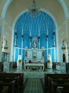 Inside the Catholic Church at Rio Piedras Square. At only 4 minutes walking distance from apartments
