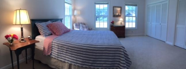 All newly renovated:The Cape Room with Queen bed and full bath. Overlooks the garden.