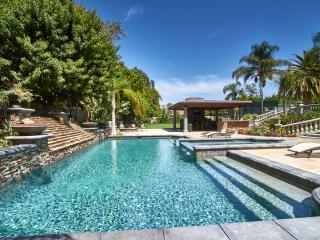 One acre gated estate with pool, spa tennis court, Anaheim