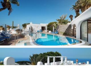 Apartments in a Botanical garden, sea view, pools., Ischia