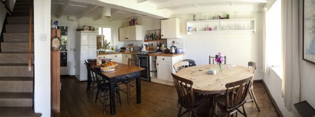 Kitchen with 2 tables, all equipment, dishwasher etc