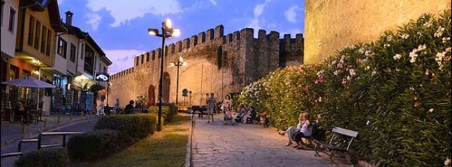 Ancient walls at old city