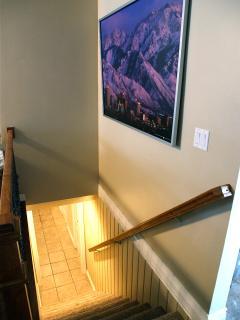 Hallway to the wonderful downstairs floor