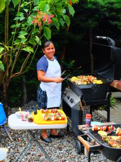 Juana our private cook does a fantastic BBQ.
