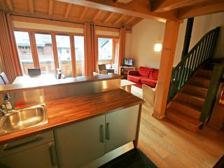 Large 3-bedroom apartment with private balcony, Les Houches