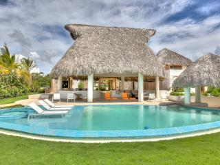 Beautiful Thatched Roof Villa, Unique Pool, Hot Tub, AC, Free Wifi, Butler/Maid