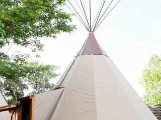 Amazing Tipis! #5 Reservation On The Guadalupe, Heated/AC, Insulated TIpis!, New Braunfels